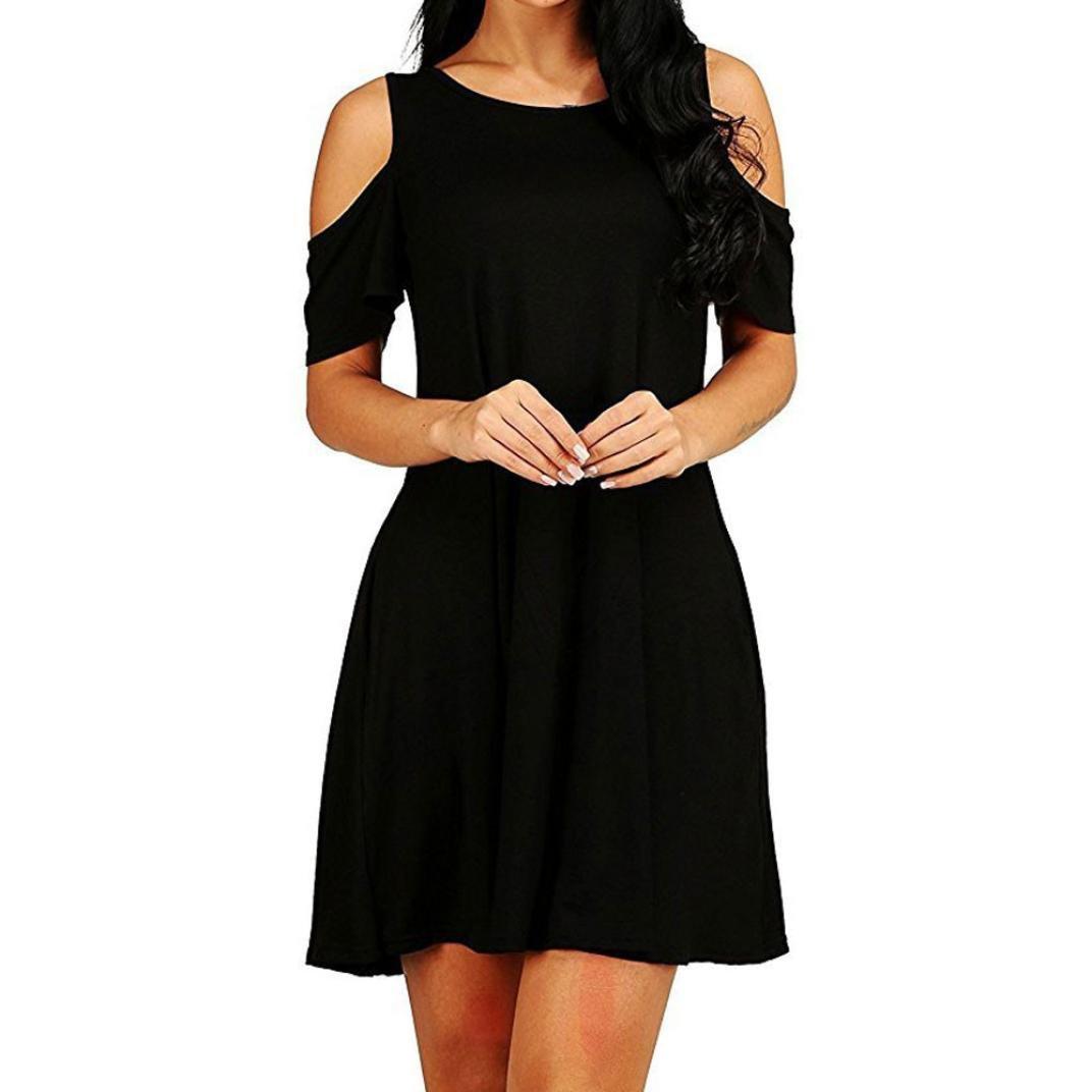 38011075bd Beautytop Womens Plus Size Off-Shoulder Summer Loose Casual Dresses For  Women Plus Size Dresses For Woman Special Occasion For Women Summer Women s  Dresses