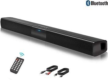 TV Soporte RCA//AUX//Bluetooth Altavoz PC de Sonido USB Altavoz Bluetooth con Cable e inal/ámbrico Altavoz Sonido Fuerte tel/éfono Celular Barra de Sonido Barra de Sonido de TV con Control Remoto