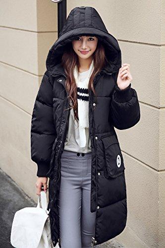 Acolchado Abrigo Negro 4 a de para Colores S Tejido XXL Las Capucha Talla Mujeres Invierno en con rrwEaqg
