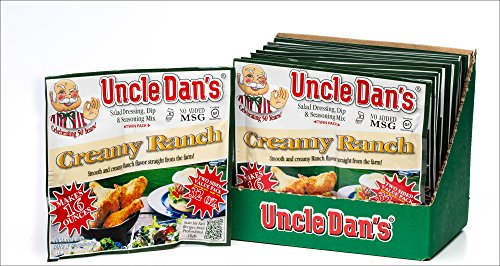 Uncle Dan's Dips, Seasonings and Salad Dressings Mix Packets - Creamy Ranch - Twin Pack - 12 Pack Case For the Perfect Homemade Flavor in Your Dry Rubs, Pasta Sauces & Marinades (Dill Dip With Cream Cheese And Mayo)