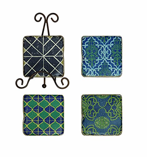 Creative Co Op Patterned Coaster Multicolor