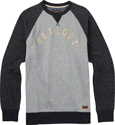 Burton Lost and Found Crew Sweatshirt Mens Sz L Grey Heather