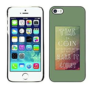 New Fashion Case BLOKK case cover / Apple iphone 5c / time coin count mountains teal poster / Slim Black Plastic LlgyWioqSZr case cover case cover Armor