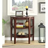 Convenience Concepts Newport 3 Shelf Console, Mahogany