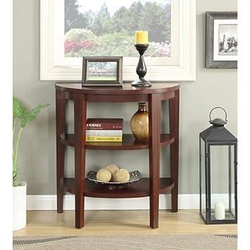 Convenience Concepts Newport 3 Shelf Console, Mahogany