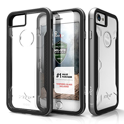 Zizo Shock Series Compatible with iPhone 8 Case Military Grade Drop Tested with Tempered Glass Screen Protector iPhone 7 case Green