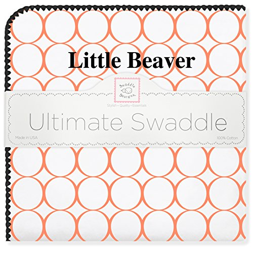 SwaddleDesigns Ultimate Swaddle, X-Large Receiving Blanket, Made in USA Premium Cotton Flannel, Oregon State University, Little Beaver (Mom's Choice Award Winner)