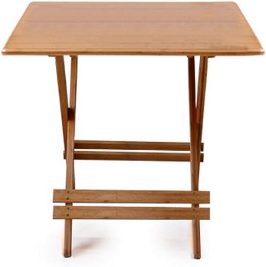 Folding table Nan Mesa Plegable de Madera Cuadrada para jardín y Patio (60 cm, 70 cm, 80 cm, 90 cm de diámetro) (Tamaño : 80cm): Amazon.es: Hogar