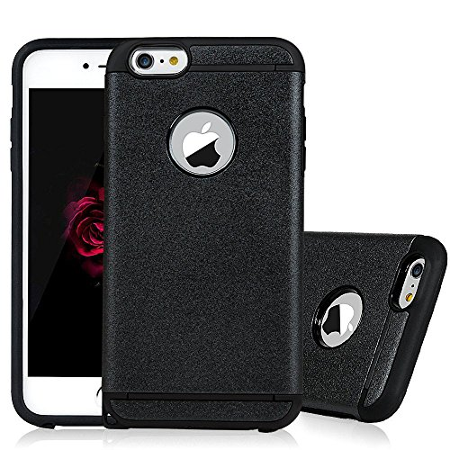 iPhone 6 Plus Case - Rinastore [Heavy Duty] Dual Layer Air Cushion Hard Plastic TPU Protective Case Bumper with Dust Plug Design for iPhone 6 Plus/6s plus (5.5 inch) (Black) (Louis Vuitton Iphone 4 Cover compare prices)