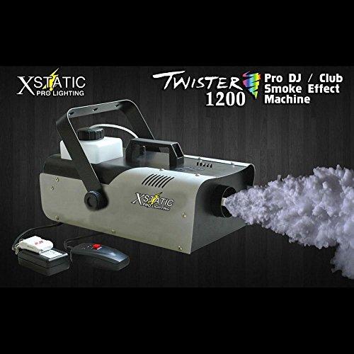 [Twister 1200 Smoke machine w/ wireless remote high power fog Lighting DJ club stage bandEffect] (Small Fog Machine)