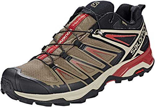 (Salomon X Ultra 3 GTX Hiking Boots - Mens, Bungee Cord/Vintage Kaki/Red Dahlia, L40674900-9)
