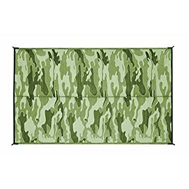 Camco 42825 Reversible Outdoor Mat (9' x 12', Camouflage)