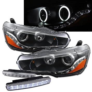 2008–2011 Mitsubishi Lancer Halo Scheinwerfer Projektor + 8 LED ...