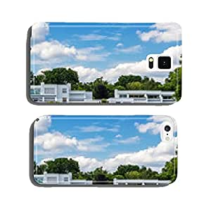 Terraced houses in Berlin at the lake cell phone cover case Samsung S5