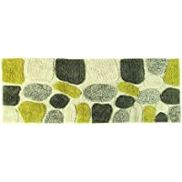 Chesapeake Merchandising Pebbles Cotton 24 in x 60 in Bath Runner, New Willow