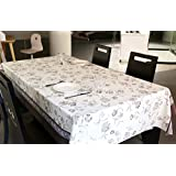 LEEVAN Heavy Duty Waterproof Spillproof Wipe Clean Rectangle Home Decoration Table Cover Tablecloth (54'' x 78''-140x200 cm, Vintage Floral)