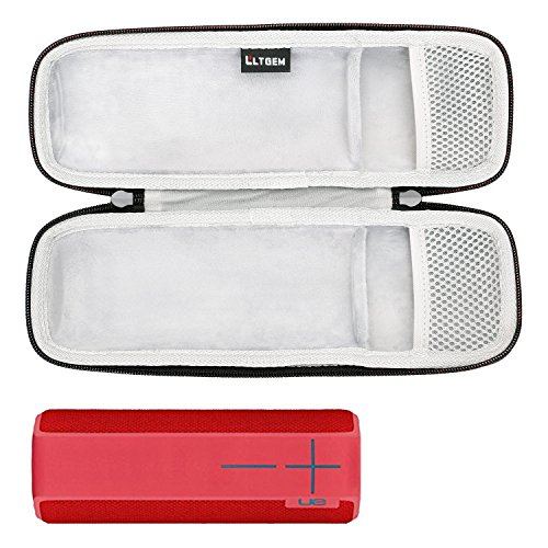 LTGEM Case for Ultimate Ears UE BOOM 2 / UE BOOM 1 Wireless Bluetooth Portable Speaker. Fits USB Cable and Wall (Boom Case)