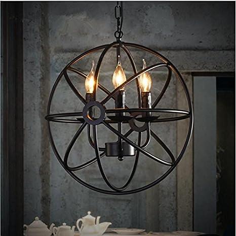 Vintage Restaurante Bar funciona anillo de araña de lámparas ...