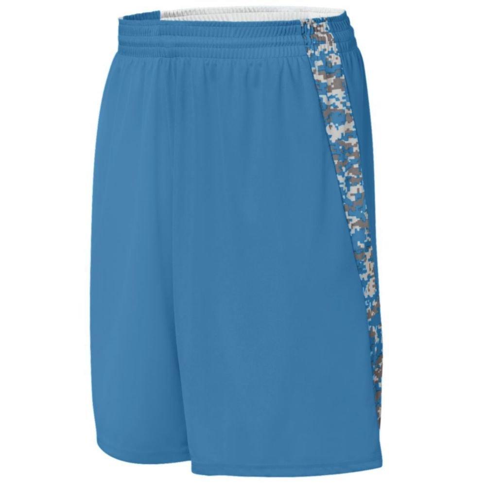 Augusta Activewear Hook Shot Reversible Short, Columbia Blue/Columbia Blue Digi, Small by Augusta Activewear