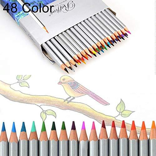 Bella 48 colores, croquis d'art professionnel à coloreier en bois, fournitures scolaires pour la peinture, Dimensione  20  17,5  1cm.