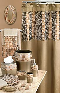 MOSAIC STONE BRONZE 3 PC TOWEL SET