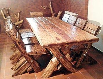 Casa Padrino Esszimmer Set Rustikal Tisch 6 Stühle Eiche