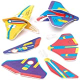 Baker Ross Mini Space Gliders (Pack of 12) for Kids Party Bag Fillers and Toys