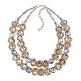 KAYMEN FASHION JEWELLERY KAYMEN Maxi Crystals and Chains Strand Necklace for Women