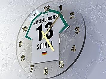 MyShirt123 Bundesliga Alemana de fútbol Relojes de Pared - Fußball-Bundesliga fußballuhr, Cualquier Nombre, Cualquier número, Cualquier Equipo.