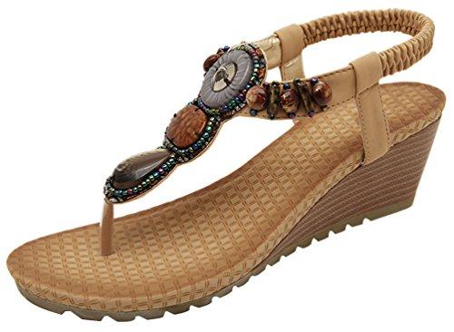 tobillo correa con mujer CFP Beige Zapatos de 7STavvq