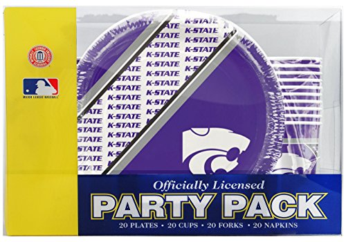- NCAA Kansas State Wild Cats Disposable Party Pack (Plates, Cups, Forks, Napkins)