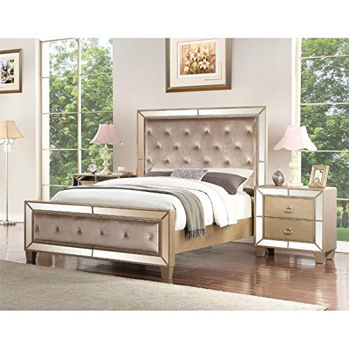 Abbyson Francesca 3 Piece King Bedroom Set in Gold for sale  Delivered anywhere in USA