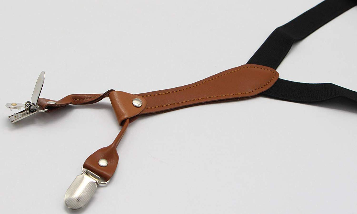 Women's Y-Back Suspenders 4 Metal Clip Fashion Elastic Wide Strap For Casual & Formal