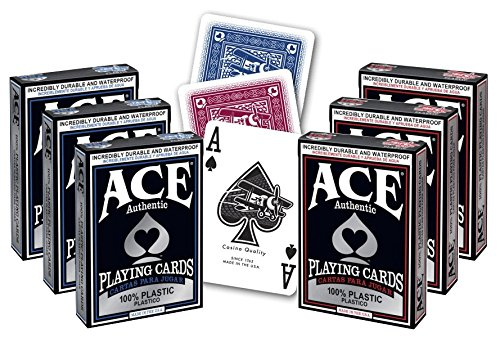 (ACE Casino 100% Plastic Playing Cards - 6 Decks)