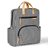 Diaper Bag Backpack by Kute 'n' Koo - New Enhanced Version - Designer Diaper Bag, Stroller Straps, Changing Pad and 5 Stunning Colors (Toddler Edition, French Stripe)