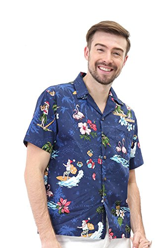 Hawaii Hangover Men's Hawaiian Shirt Aloha Shirt 5XL Christmas Shirt Santa Navy