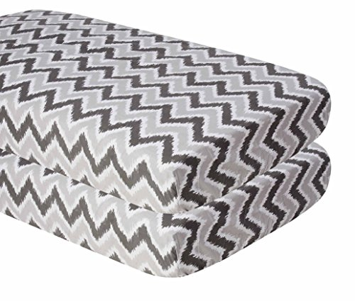 Ikat Zigzag Grey 2 Crib ()