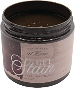 Gel Stain | Hazel Mahogany | Thick Water Based Gel Stain for Wood | 16 oz | Use As Wood Stain or Glaze | Amy Howard Home