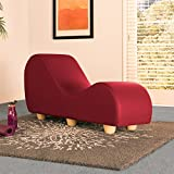 Liberator Kama Sutra Chaise Lounge Chair - Premium Faux Leather w/ Maple Wood Feet, Claret