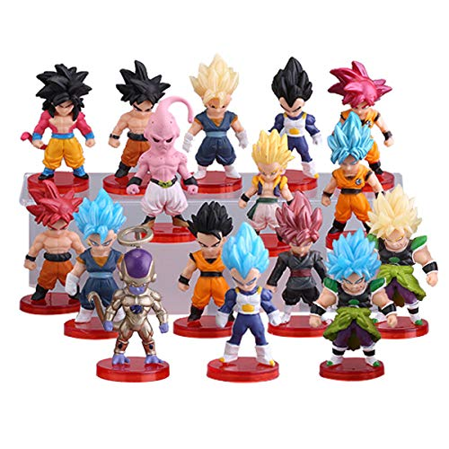 """16 Pack Dragon Ball Z Cake Toppers,3"""" Goku Figures Cake Toppers Set"""