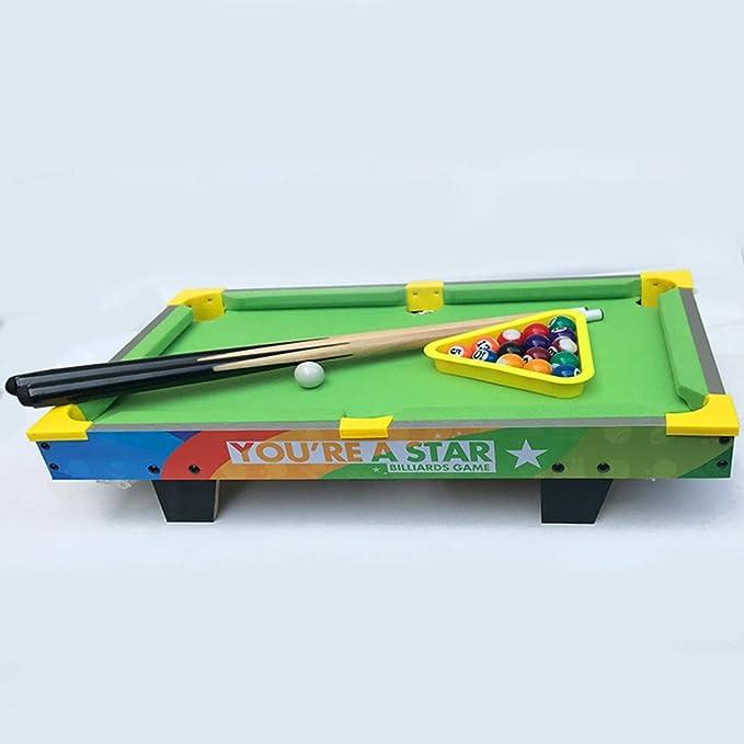 Sarahjers-Game Juegos de Mesa Mini Mesa de Billar Piscina Juego de Mesa de Billar con Piscina Pequeño pequeño Mini Mesa de Billar for el Adulto y Chindren El fútbol Juego de Mesa