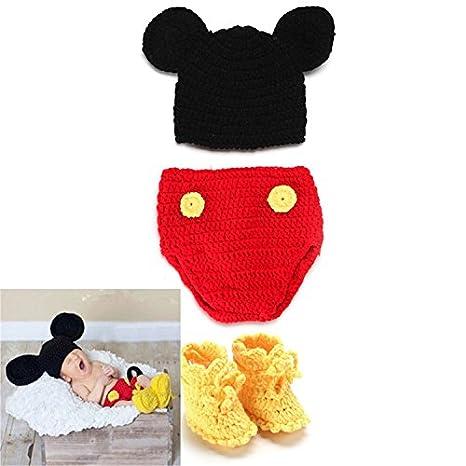 HUPLUE - Disfraz de Mickey Mouse para fotografía de bebé con ...