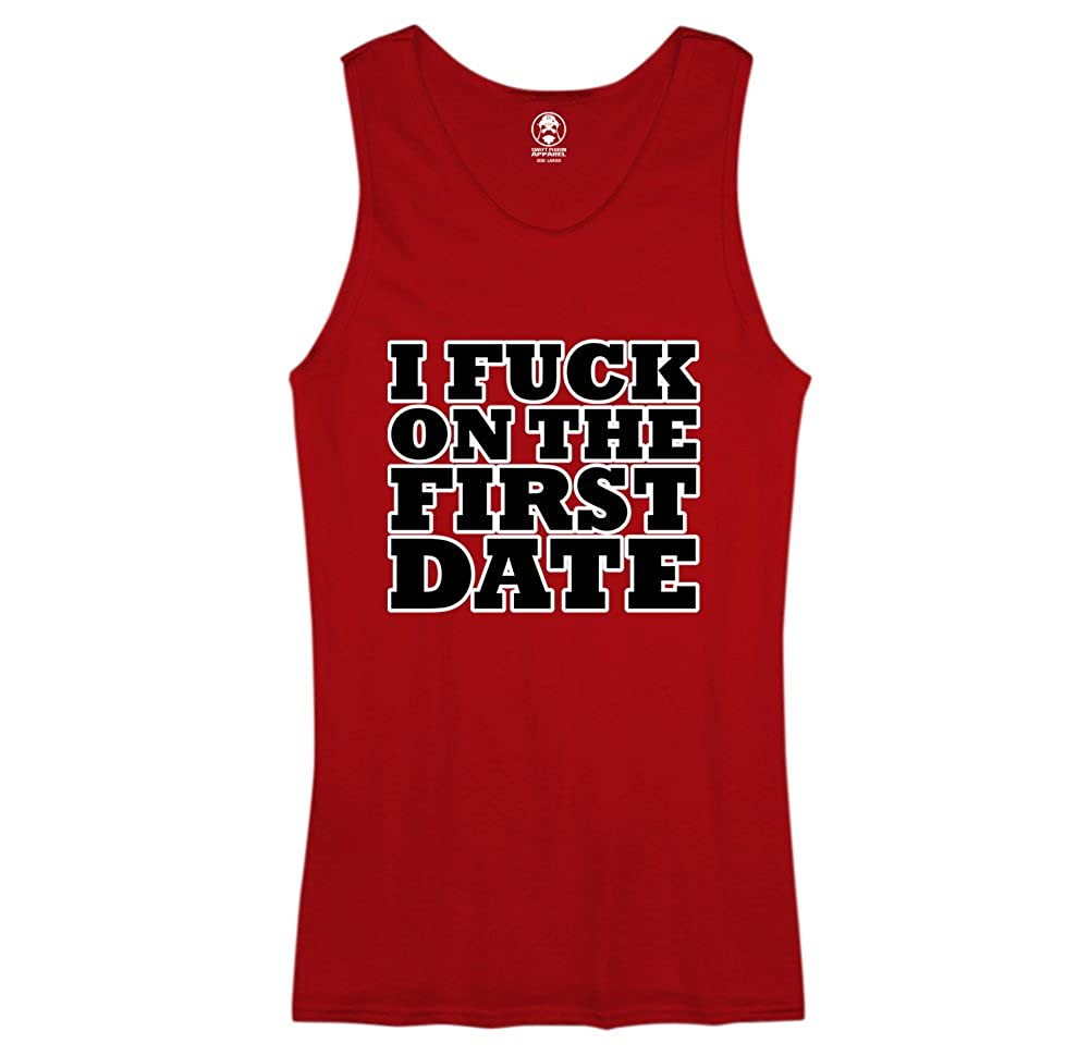 I Fuck On The First Date - Funny Swift Pigeon Mens Tank Top 01097_MENTANK