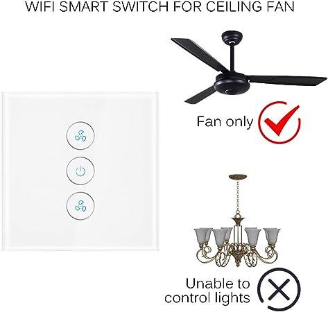 A0ZBZ Interruptor de luz de ventilador de techo inteligente ...