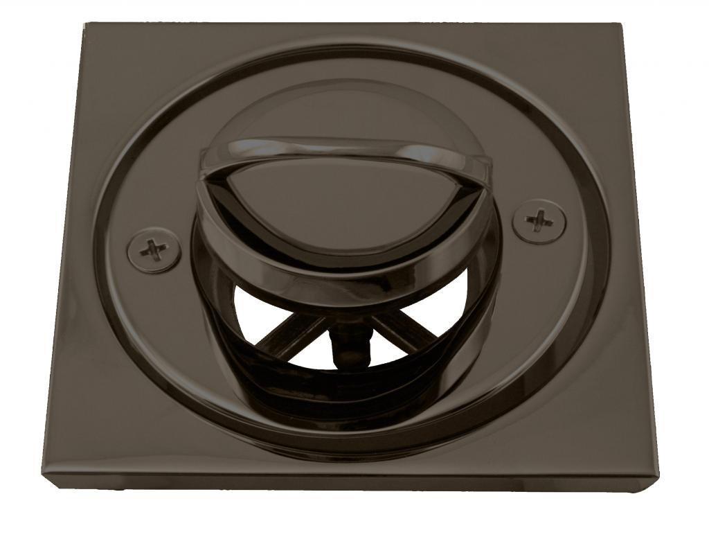 Westbrass Roman Tub Drain Trim with 4-1/4'' OD Tile Square, Oil Rubbed Bronze, D3201-12