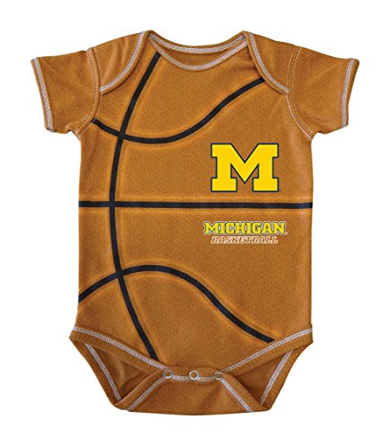 NCAA Michigan Wolverines Kids MVP Basketball Bodysuit, 18 Months, ()