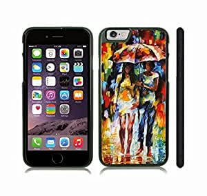 Case Cover For SamSung Galaxy S6 with In the Rain, Watercolor, Two Girls Under an Umbrella in the Rain Snap-on Cover, Hard Carrying Case (Black)