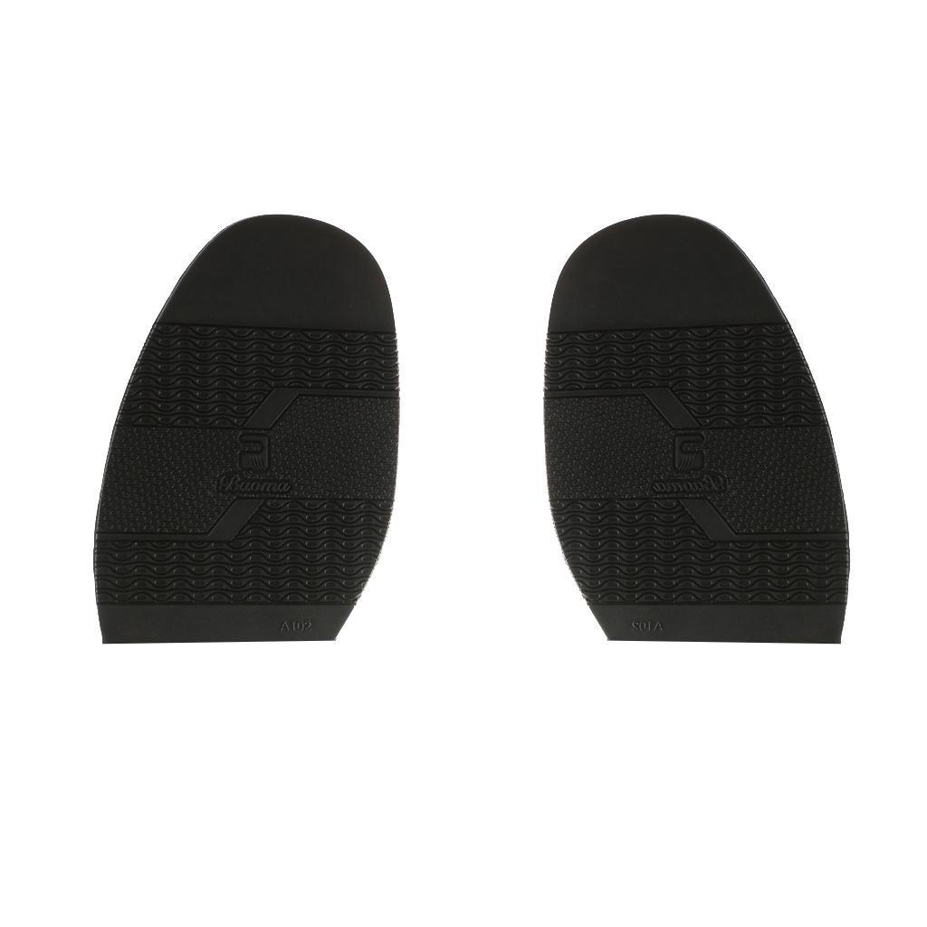 MagiDeal Pair Rubber Half Shoe Soles Anti Slip DIY Shoe Repair Black Thickness 2mm STK0155010486