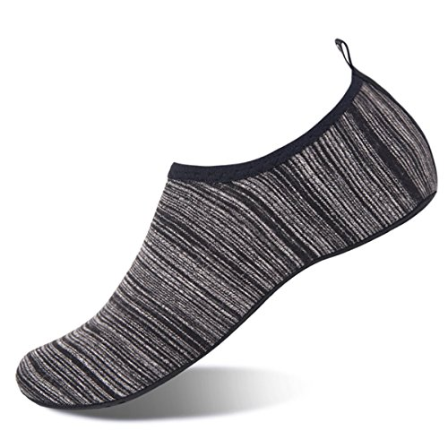 Womens and Mens Water Shoes Barefoot Quick-Dry Aqua Socks for Beach Swim Surf Yoga Exercise (Black/Gradient, M)