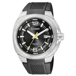 Citizen BM0981-08E - Reloj analógico de cuarzo para hombre con correa de plástico, color negro